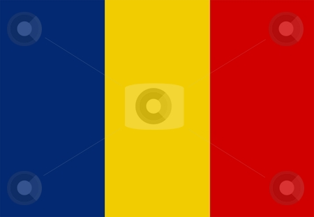 Flag Of chad stock photo, 2D illustration of the flag of chad by Tudor Antonel adrian