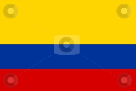 Flag Of colombia stock photo, 2D illustration of the flag of colombia by Tudor Antonel adrian