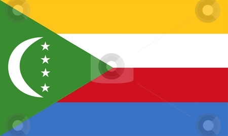 Comoros Flag stock photo, 2D illustration of the flag of Comoros vector by Tudor Antonel adrian