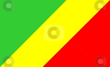 Flag Of congo stock photo, 2D illustration of the flag of congo by Tudor Antonel adrian