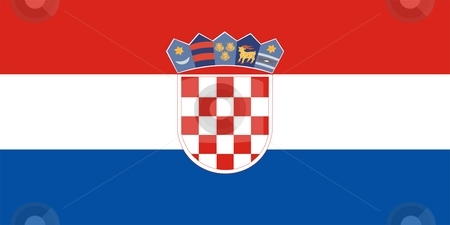 Flag Of croatia stock photo, 2D illustration of the flag of croatia by Tudor Antonel adrian