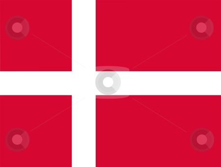 Flag Of Denmark stock photo, 2D illustration of the flag of Denmark by Tudor Antonel adrian