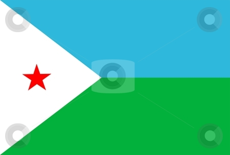Flag Of Djibouti stock photo, 2D illustration of the flag of Djibouti by Tudor Antonel adrian