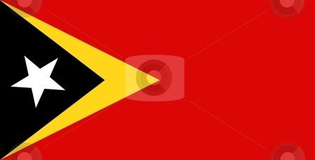 Flag Of East Timor stock photo, 2D illustration of the flag of East Timor by Tudor Antonel adrian