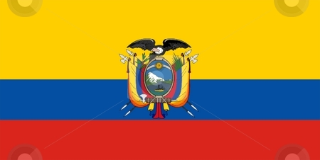 Ecuador Flag stock photo, 2D illustration of Ecuador flag color vector by Tudor Antonel adrian