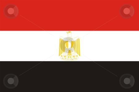 Flag Of Egypt stock photo, 2D illustration of the flag of Egypt by Tudor Antonel adrian