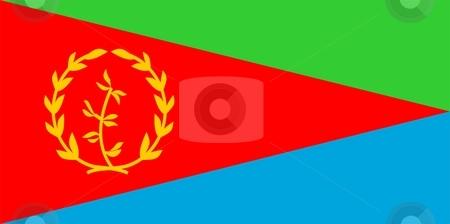 Flag Of Eritrea stock photo, 2D illustration of the flag of Eritrea by Tudor Antonel adrian