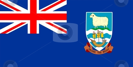 Flag Of Falkland Islands stock photo, 2D illustration of the flag of Falkland Islands by Tudor Antonel adrian