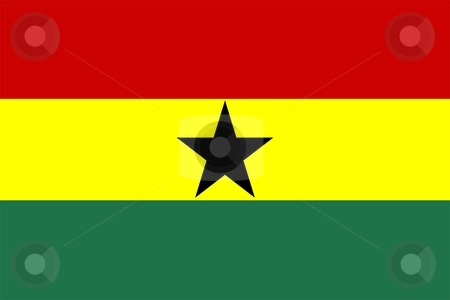 Flag Of ghana stock photo, 2D illustration of the flag of ghana by Tudor Antonel adrian