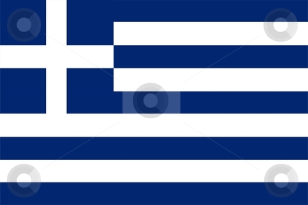 Flag Of Greece stock photo, 2D illustration of the flag of Greece by Tudor Antonel adrian