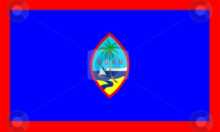 Flag Of Guam stock photo, 2D illustration of the flag of Guam by Tudor Antonel adrian