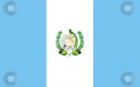 Guatemala Flag stock photo, 2D illustration of Guatemala flag color vector by Tudor Antonel adrian