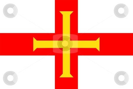 Flag Of Guernsey stock photo, 2D illustration of the flag of Guernsey by Tudor Antonel adrian