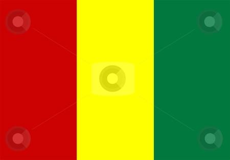 Flag Of guinea stock photo, 2D illustration of the flag of guinea by Tudor Antonel adrian