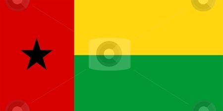 Flag Of Guinea-Bissau stock photo, 2D illustration of the flag of Guinea-Bissau by Tudor Antonel adrian