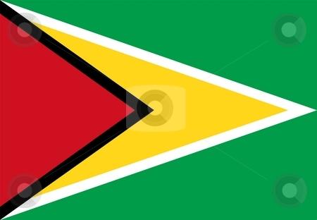Flag Of guyana stock photo, 2D illustration of the flag of guyana by Tudor Antonel adrian