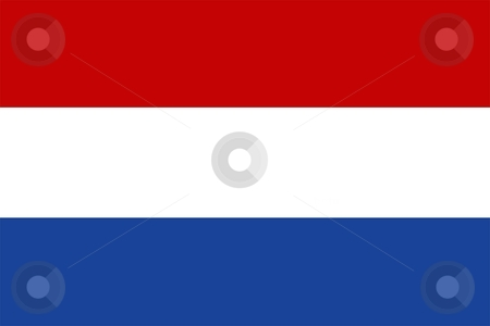 Flag Of holland stock photo, 2D illustration of the flag of holland by Tudor Antonel adrian