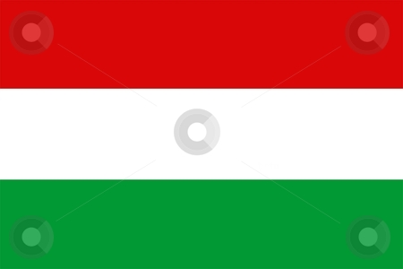 Flag Of hungary stock photo, 2D illustration of the flag of hungary by Tudor Antonel adrian