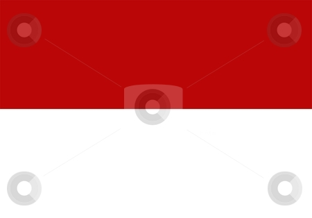 Flag Of indonesia stock photo, 2D illustration of the flag of indonesia by Tudor Antonel adrian