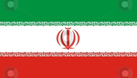 Flag Of Iran stock photo, 2D illustration of the flag of Iran by Tudor Antonel adrian
