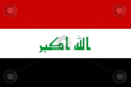 Flag Of Iraq stock photo, 2D illustration of the flag of Iraq by Tudor Antonel adrian