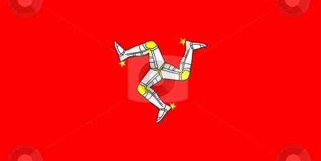 Flag Of Isle of Man stock photo, 2D illustration of the flag of Isle of Man by Tudor Antonel adrian