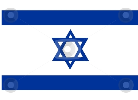 Flag Of Israel stock photo, 2D illustration of the flag of Israel by Tudor Antonel adrian