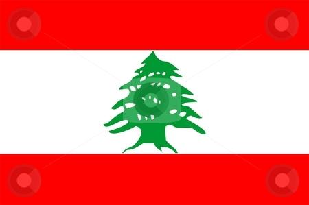 Flag Of Lebanon stock photo, 2D illustration of the flag of Lebanon by Tudor Antonel adrian