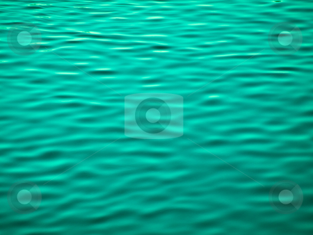 Green water background stock photo, River ripples abstract background by Laurent Dambies