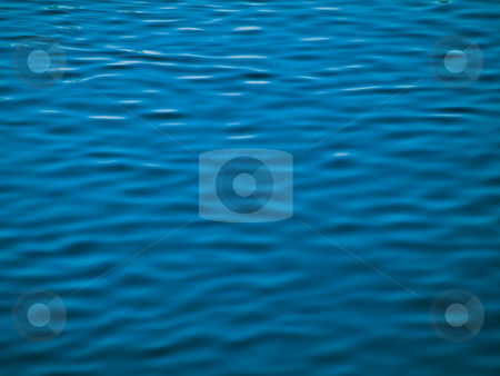 Blue water background stock photo, River ripples abstract background by Laurent Dambies