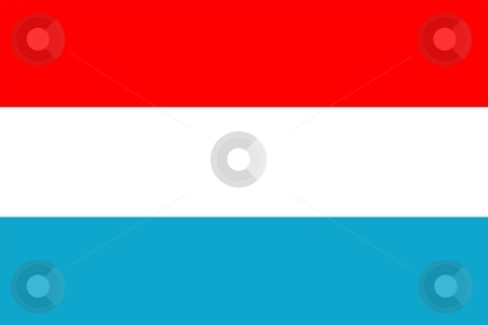 Flag Of luxembourg stock photo, 2D illustration of the flag of luxembourg by Tudor Antonel adrian