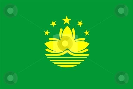 Flag Of Macau stock photo, 2D illustration of the flag of Macau by Tudor Antonel adrian