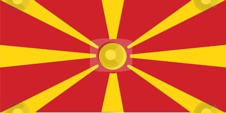 Flag Of Macedonia stock photo, 2D illustration of the flag of Macedonia by Tudor Antonel adrian