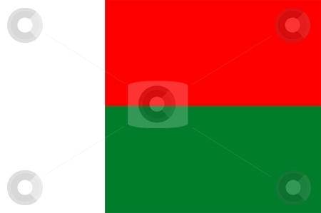 Flag Of Madagascar stock photo, 2D illustration of the flag of Madagascar by Tudor Antonel adrian