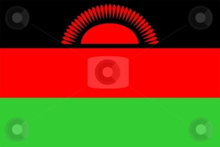 Flag Of Malawi stock photo, 2D illustration of the flag of Malawi by Tudor Antonel adrian