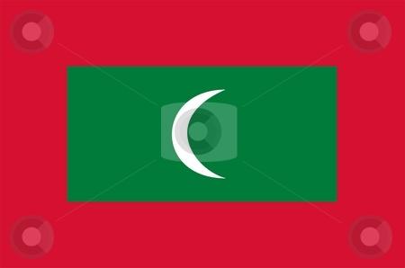 Flag Of Maldives stock photo, 2D illustration of the flag of Maldives by Tudor Antonel adrian