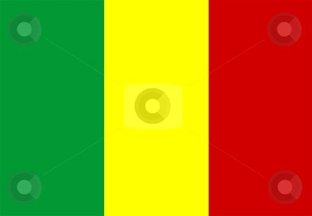 Flag Of mali stock photo, 2D illustration of the flag of mali by Tudor Antonel adrian