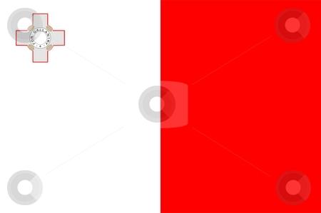 Flag Of Malta stock photo, 2D illustration of the flag of Malta by Tudor Antonel adrian