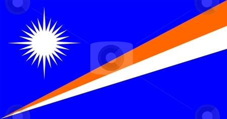 Flag Of Marshall Islands stock photo, 2D illustration of the flag of Marshall Islands by Tudor Antonel adrian