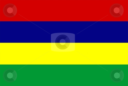 Flag Of Mauritius stock photo, 2D illustration of the flag of Mauritius by Tudor Antonel adrian