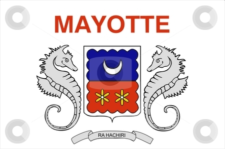 Flag Of Mayotte stock photo, 2D illustration of the flag of Mayotte by Tudor Antonel adrian