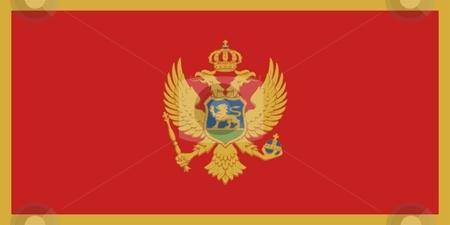 Flag Of Montenegro stock photo, 2D illustration of the flag of Montenegro by Tudor Antonel adrian