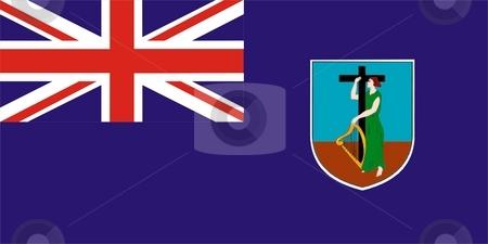 Flag Of Montserrat stock photo, 2D illustration of the flag of Montserrat by Tudor Antonel adrian