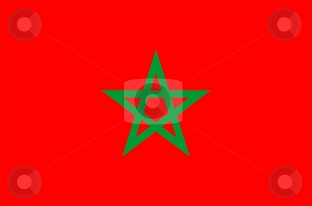 Morocco Flag stock photo, 2D illustration of the flag of Morocco vector by Tudor Antonel adrian