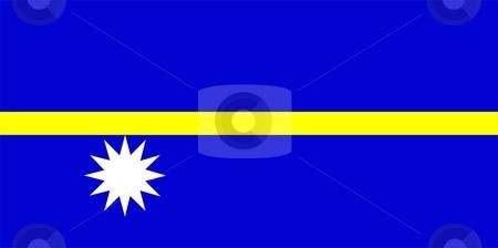 Flag Of Nauru stock photo, 2D illustration of the flag of Nauru by Tudor Antonel adrian
