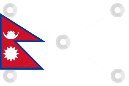 Nepal Flag stock photo, 2D illustration of the flag of Nepal vector by Tudor Antonel adrian
