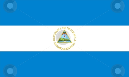 Flag Of Nicaragua stock photo, 2D illustration of the flag of Nicaragua by Tudor Antonel adrian