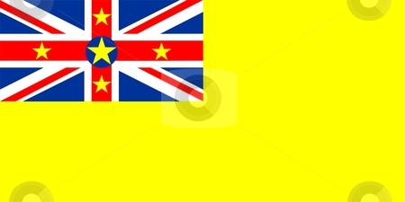 Flag Of Niue stock photo, 2D illustration of the flag of Niue by Tudor Antonel adrian