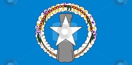Flag Of Northern Mariana Islands stock photo, 2D illustration of the flag of Northern Mariana Islands by Tudor Antonel adrian