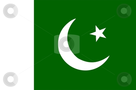 Flag Of Pakistan stock photo, 2D illustration of the flag of Pakistan by Tudor Antonel adrian